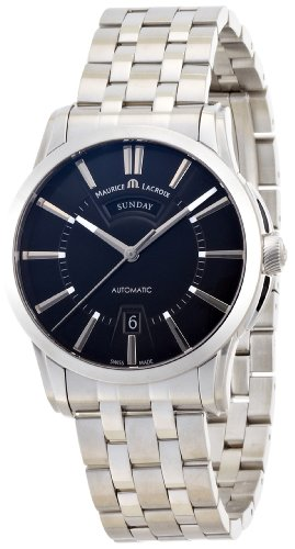 Maurice Lacroix Men's PT6158-SS00233E Pontos Pontos Black Dial Automatic Watch