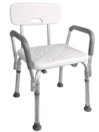 TMS® Adjustable Medical Shower Chair Bathtub Bench Bath Seat Stool ...