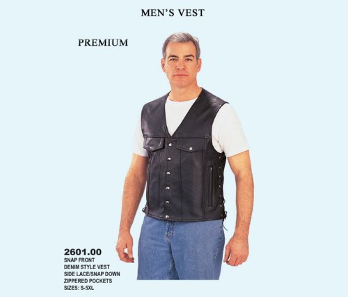 Men's Vest - Snap Front Demin Style Vest Side Lace/Snap Down Zippered Pockets - Buy Men's Vest - Snap Front Demin Style Vest Side Lace/Snap Down Zippered Pockets - Purchase Men's Vest - Snap Front Demin Style Vest Side Lace/Snap Down Zippered Pockets (UNIK, UNIK Vests, UNIK Mens Vests, Apparel, Departments, Men, Outerwear, Mens Outerwear, Vests, Mens Vests)