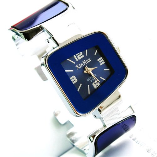 Fashion Famous Brand Luxury Women Bangle Analog Quartz Watches With Square Dial Steel Band Xh01-598
