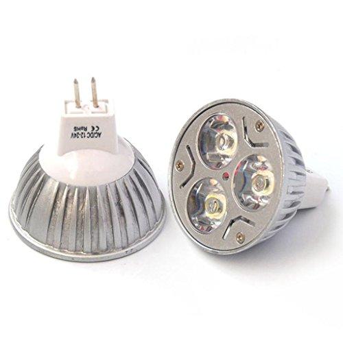 Eyourlife 12V 3W Mr16 Led Bulb- Cool White Equivalent Mr16 Led Spotlight 300-360 Lumen 60 Degree Beam Angle For Landscape,Accent,Recessed,Track Lighting