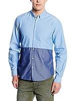 Springfield Camisa Hombre (Azul / Azul Oscuro)