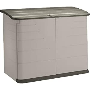 Rubbermaid Plastic Horizontal Outdoor Storage Shed, 32-Cubic Foot (FG374701OLVSS)