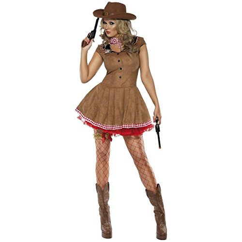 GSG Cowgirl Costume Adult Wild West Halloween Fancy Dress (Wild Zebra Adult Womens Costume)