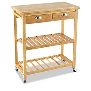beistellwagen auf rollen f r die k che. Black Bedroom Furniture Sets. Home Design Ideas