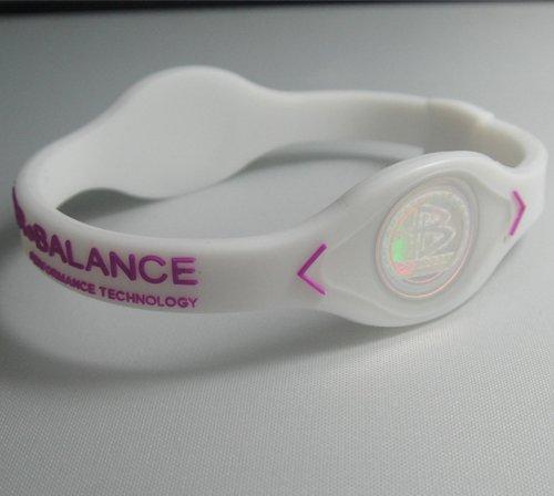Original Power Balance – White W/pink Lettering – Small (17.5cm)