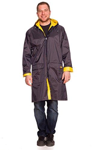 RAIN SLICKS Unisex Reversible Rain Coat Jacket Parka (Large) (Combos Blue Cheese compare prices)