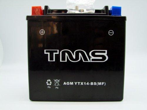 Tms Ytx14-Bs Utx14 Gtx14-Bs For Honda Atv Foreman Yamaha Kawasaki Suzuki Agm Maintenance Free Battery front-834183
