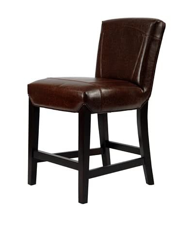 Safavieh Ken Counter Stool, Brown Leather