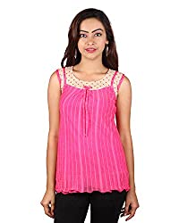 PurpleYou Women's Plain Shirt (E5WTPI015, Pink, Large)