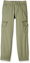US Polo Boys' Trousers (UKTR5121_USPA Green_ES)