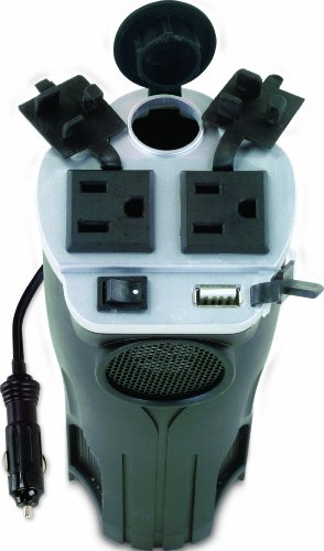 Rally 7413 200W Cup Holder Power Inverter  USB 