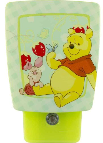 Winnie the pooh lamp shade shop now cheapest winnie the pooh lamp jasco products 11753 disney winnie the pooh led wrap around shade night light aloadofball Images