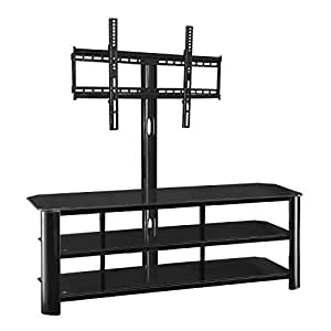 innovex stanford 3 in 1 tv stand with mounting bracket for 55 inch tvs black. Black Bedroom Furniture Sets. Home Design Ideas