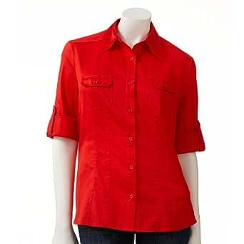 apt 9 essential roll tab shirt women 39 s at amazon women