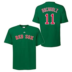 Clay Buchholz Boston Red Sox Green Player T-Shirt by Majestic by Majestic