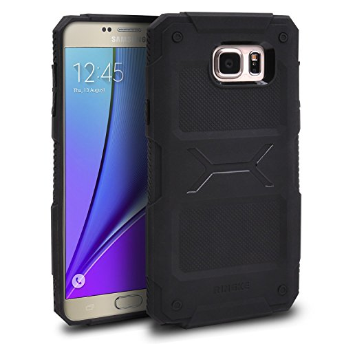 Galaxy-Note-5-Case-Ringke-REBEL-Resilient-Strength-Bonus-1-Free-High-Quality-HD-Screen-Protector-Flexible-Durability-with-Ergonomic-Grip-Durable-Anti-Slip-Drop-Protection-Improved-Strength-Flexible-TP