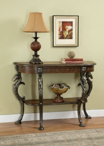 Cheap Masterpiece Floral Demilune Console Table (416-225)