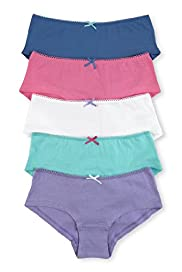 5 Pack Pure Cotton Assorted Bow Shorts