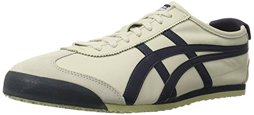 Onitsuka Tiger Mexico 66 Fashion Sneaker, Birch/India Ink/Latte, 6.5 M Men's US/8 Women's M US