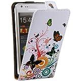Housse Etui Coque En Cuir Flip Papillons POUR Samsung Galaxy S2 S II GT-i9100