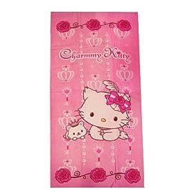 1b9716211 Sanrio Hello Kitty Charming Crown Beach/Bath Towel - Pink: Toys & Games