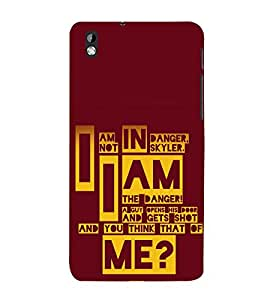 printtech Breaking Quote Bad Back Case Cover for HTC Desire 816G dual sim