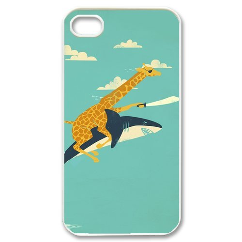 Giraffe Design Slim and Stylish Protective Iphone 4/4s Case, Perfect fit Snap On Hard Cover