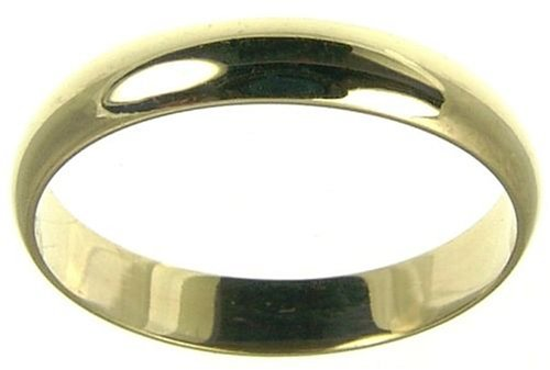 Ladies' Wedding ring, 9 Carat Yellow Gold D Shape, 4mm Band Width