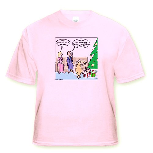 Bad Christmas Present Idea - Funniest Home Videos - Toddler Light-Pink-T-Shirt (4T)