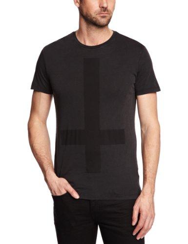 Sinstar Cross Crew Printed Men's T-Shirt Vintage Black Medium