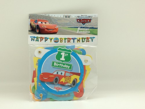 Disney Cars 1st Birthday Banner 1ct