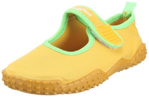 Playshoes - Aquaschuhe, Badeschuhe klassisch mit höchstem UV-Schutz nach Standard 801, Infradito unisex bambino, color Giallo (gelb 12), talla 20/21