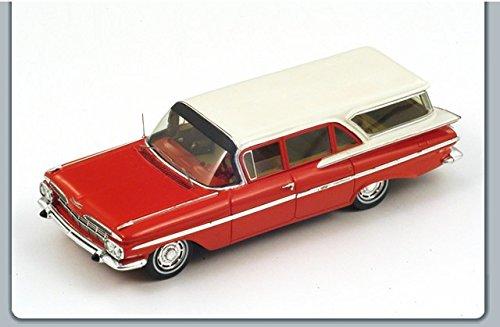 chevrolet-impala-station-wagon-1959-red-white-143-spark-model-auto-stradali-modello-modellino-die-ca