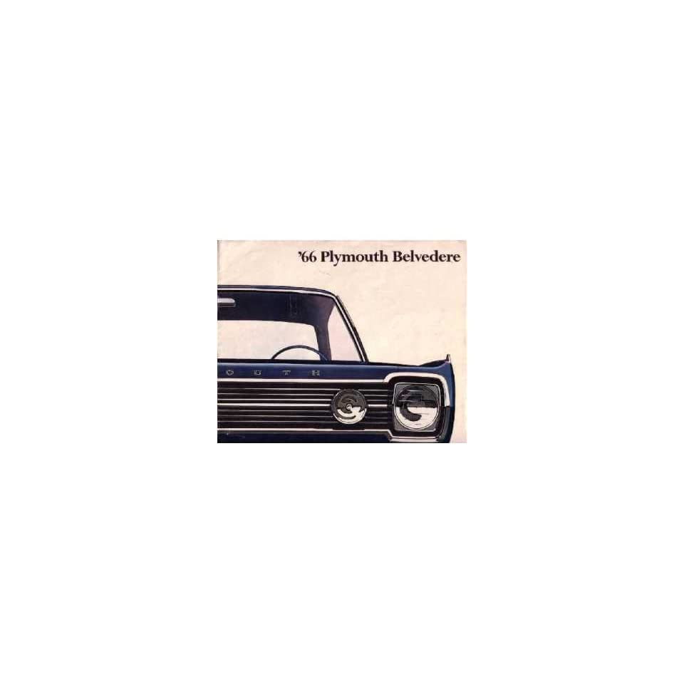 1966 Plymouth Belvedere Sales Brochure Literature Book Options Specification