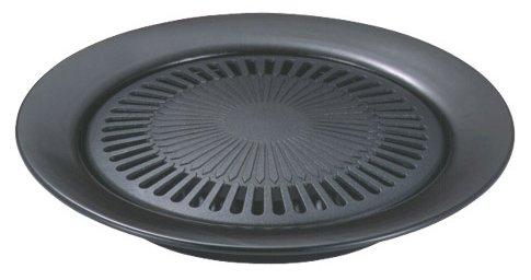 韓国式 ふっ素樹脂加工 丸型 焼肉 グリル 30cm H-3558