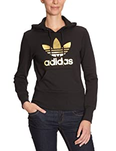 adidas Originals Trefoil Women's Hooded Jumper black/gold Size:34