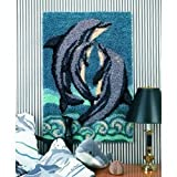 Dolphins Latch Hook Rug Making Kit