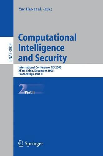 Computational Intelligence and Security: International Conference, CIS 2005, Xi'an, China, December 15-19, 2005, Proceed