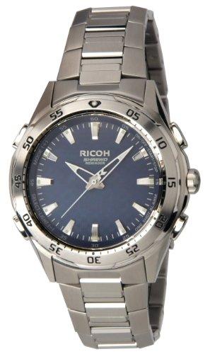 Ricoh Men'S Watch Shrewd Reminder Inductive Charge Analogue Vibration Alarm Chronograph Led Blue 660002-51