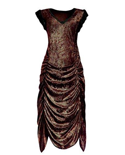 [Victorian Valentine Steampunk Gothic Vintage Inspired Women's Dress Brown XL] (Wine Inspired Halloween Costumes)