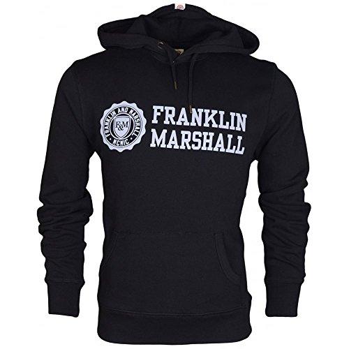 Franklin & Marshall -  Felpa con cappuccio  - Uomo Black X-Large