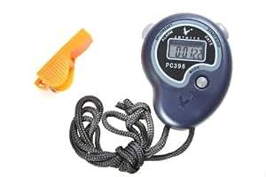 Chronomètre, qualité militaire, TP396 modèle élémentaire pour l'éducation physique, le 1-ligne d'affichage, 2 tours de mémoire, TP396