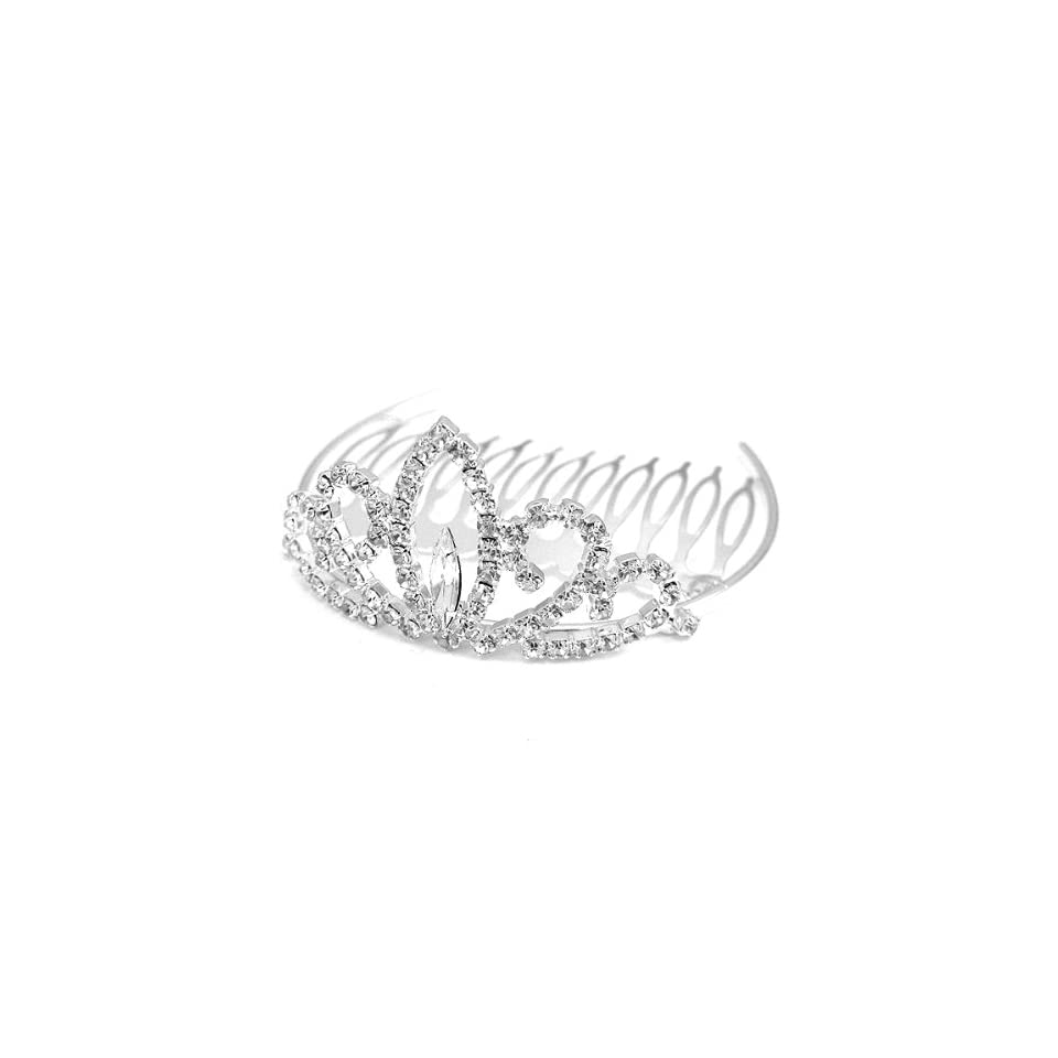 Perfect Gift   High Quality Glistering Crown Hair Pin with Silver Swarovski Crystals (2897) for Birthday Wedding Gift Free Standard Shipment Clearance Summer Sales
