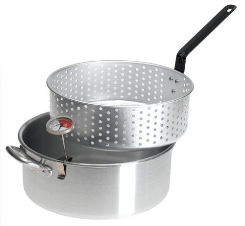 Bayou classic outdoor aluminum fish cooker aluminum deep for Fish fryer pot