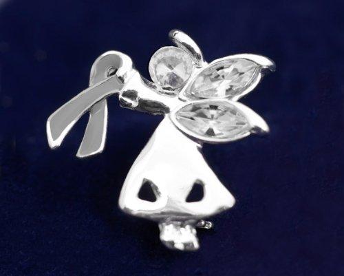 Gray Ribbon Pin-Angel By My Side (27 Pins)