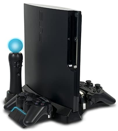 PlayStation Move & DualShock Charging Station With Stand For PS3 Slim