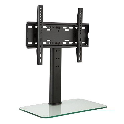 auna tv st nder gr e m h he 56 cm f r 23 47 zoll lcd led fernseher st nder fernsehtisch. Black Bedroom Furniture Sets. Home Design Ideas