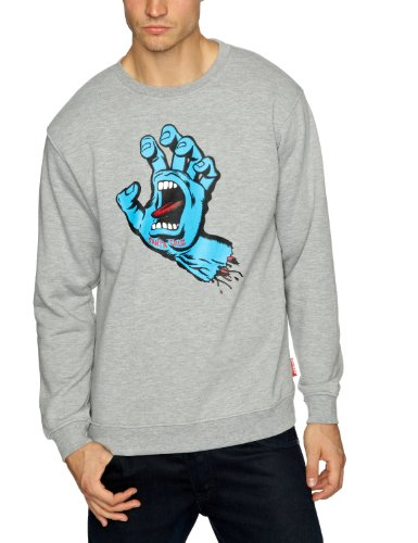 SANTA CRUZ Screaming Hand Crew Men's Sweatshirt Heather Grey X-Large
