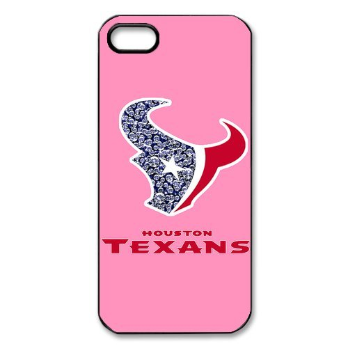 Funny NFL Houston Texans Apple Iphone 5S/5 Case Cover Pink For girl at Amazon.com